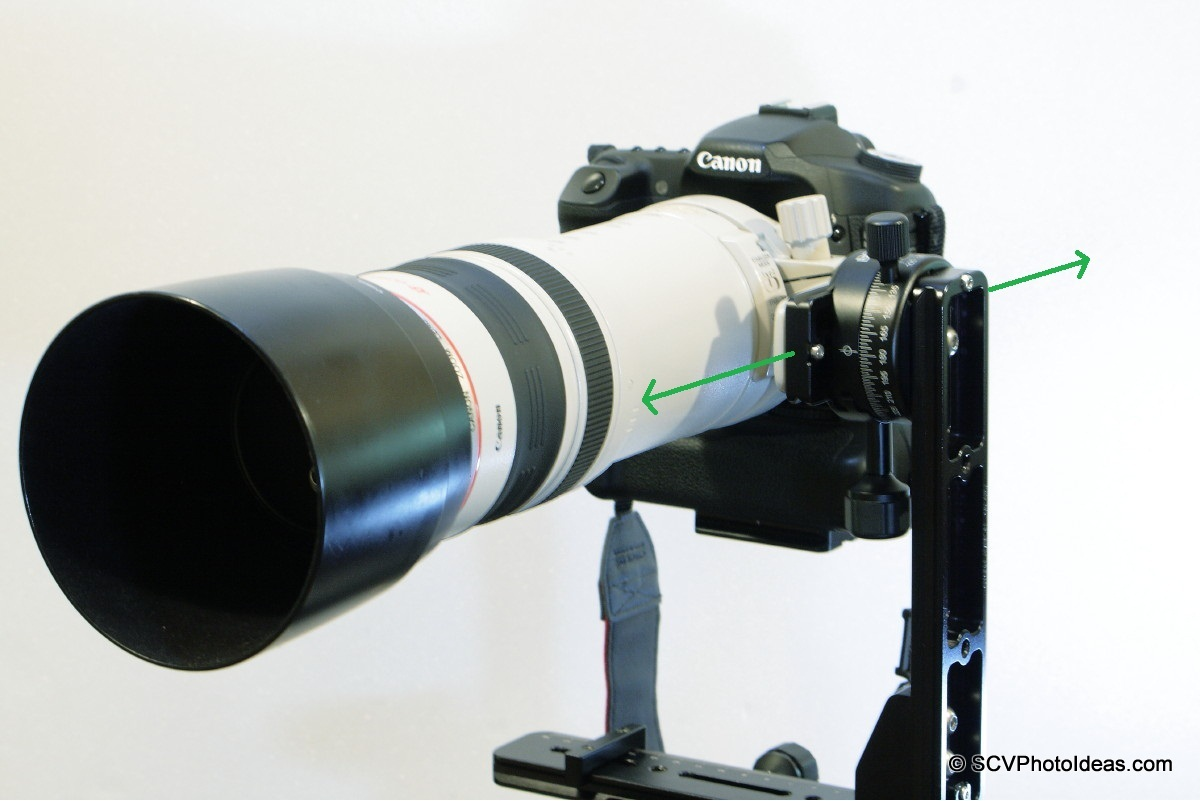 Canon EOS 50D / EF 100-400 L IS USM balanced on Panorama Head Ver I