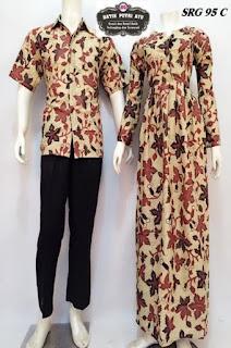 Gamis Batik Kombinasi Ceruti