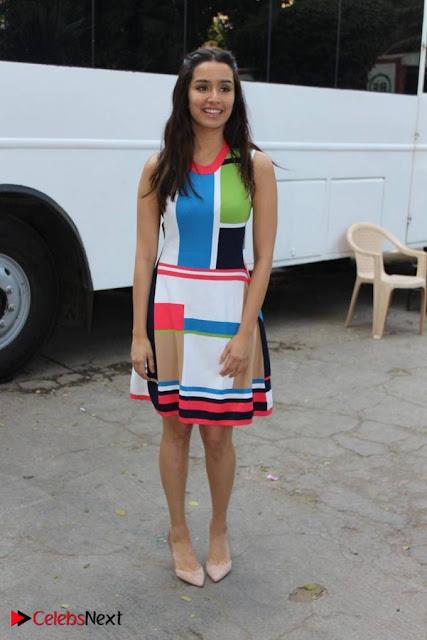 Bollywood Actress Shraddha Kapoor Latest Stills in Colourful Short Dress at OK JAANU Movie Press Conference  0003.jpg
