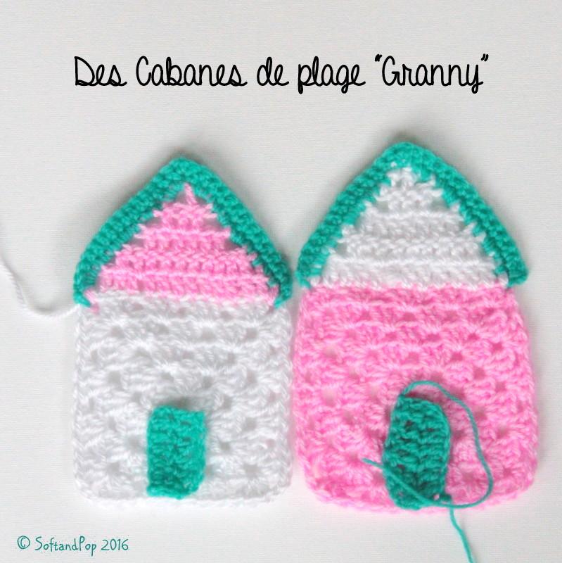 """Cabanes de plage """"Granny"""" au crochet"""
