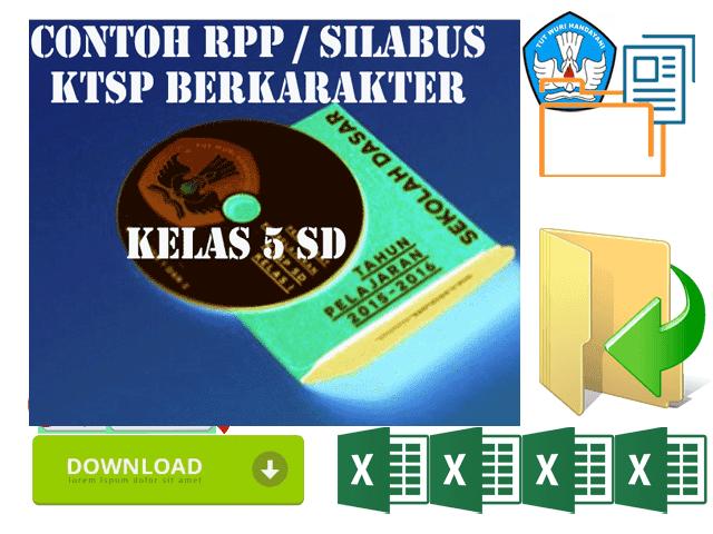 Contoh RPP KTSP Berkarakter Kelas 5 SD Format Words