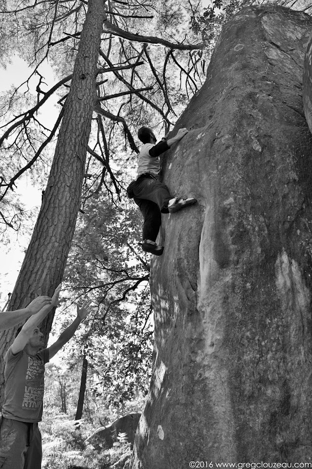 Mathieu à l'assaut du Carré d'As, 6C, Cuvier, (C) Greg Clouzeau