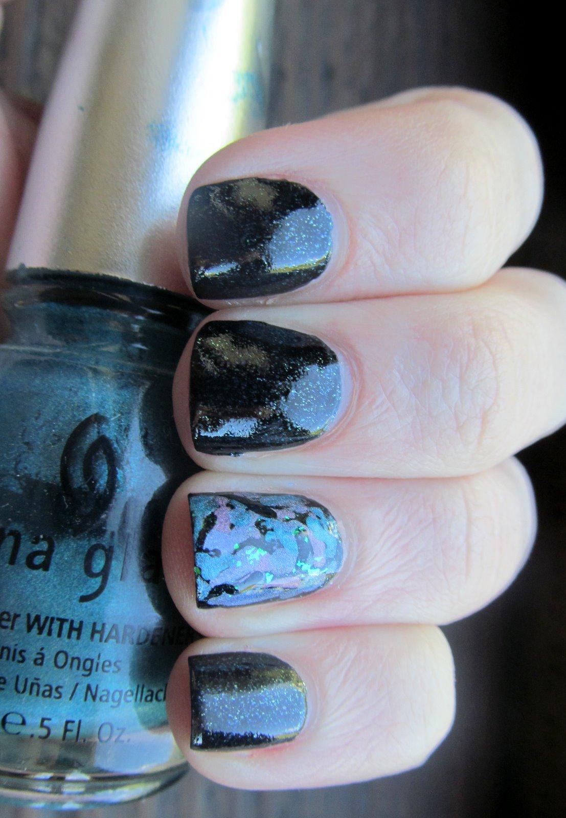 China Glaze Paua Nail Art
