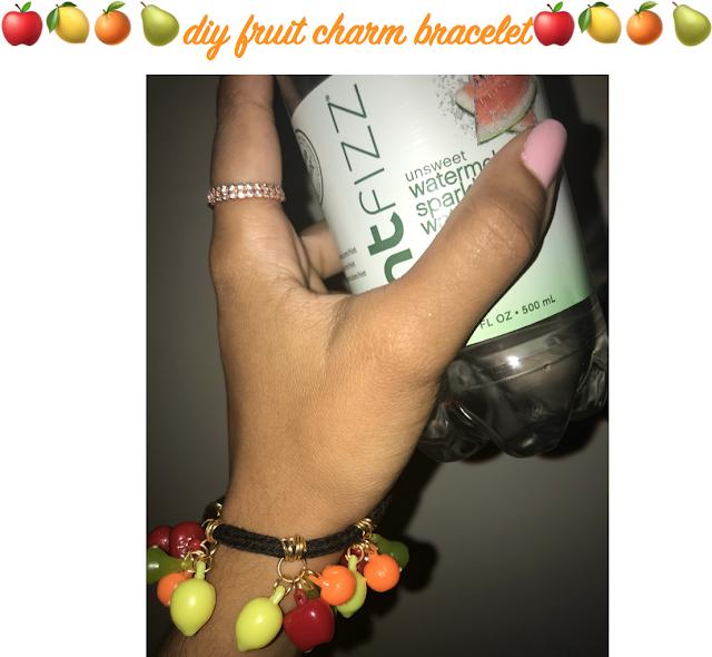 DIY Fruit Charm Bracelet poster