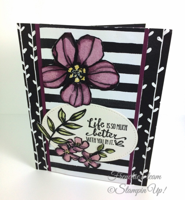 Petal Passion Memories and more, Frenchie Team, Stampin'Up!