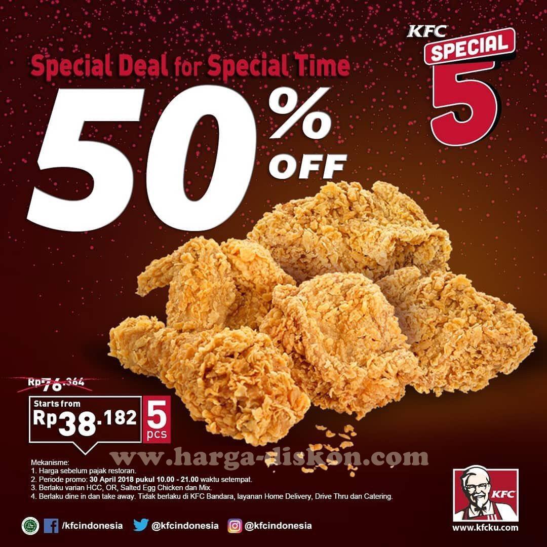 Harga Promo KFC Terbaru