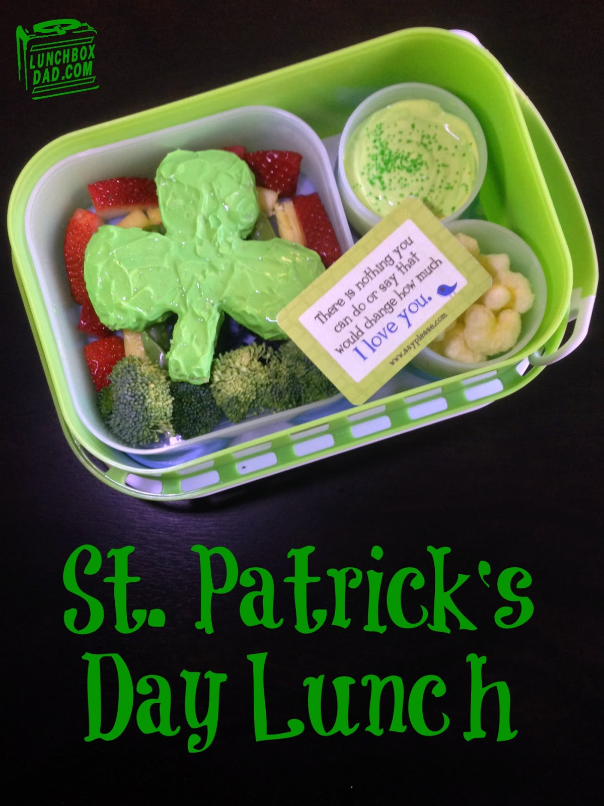 St. Patrick's Day kid's lunch #bento