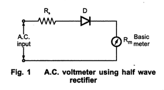 A.C. Voltmeter using Half Wave Rectifier ~ your electrical