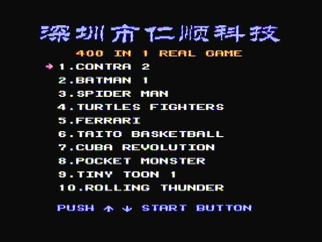 400 in 1 real game nes rom download