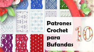 10 Puntadas Crochet para Tejer Estolas / Descarga gratis