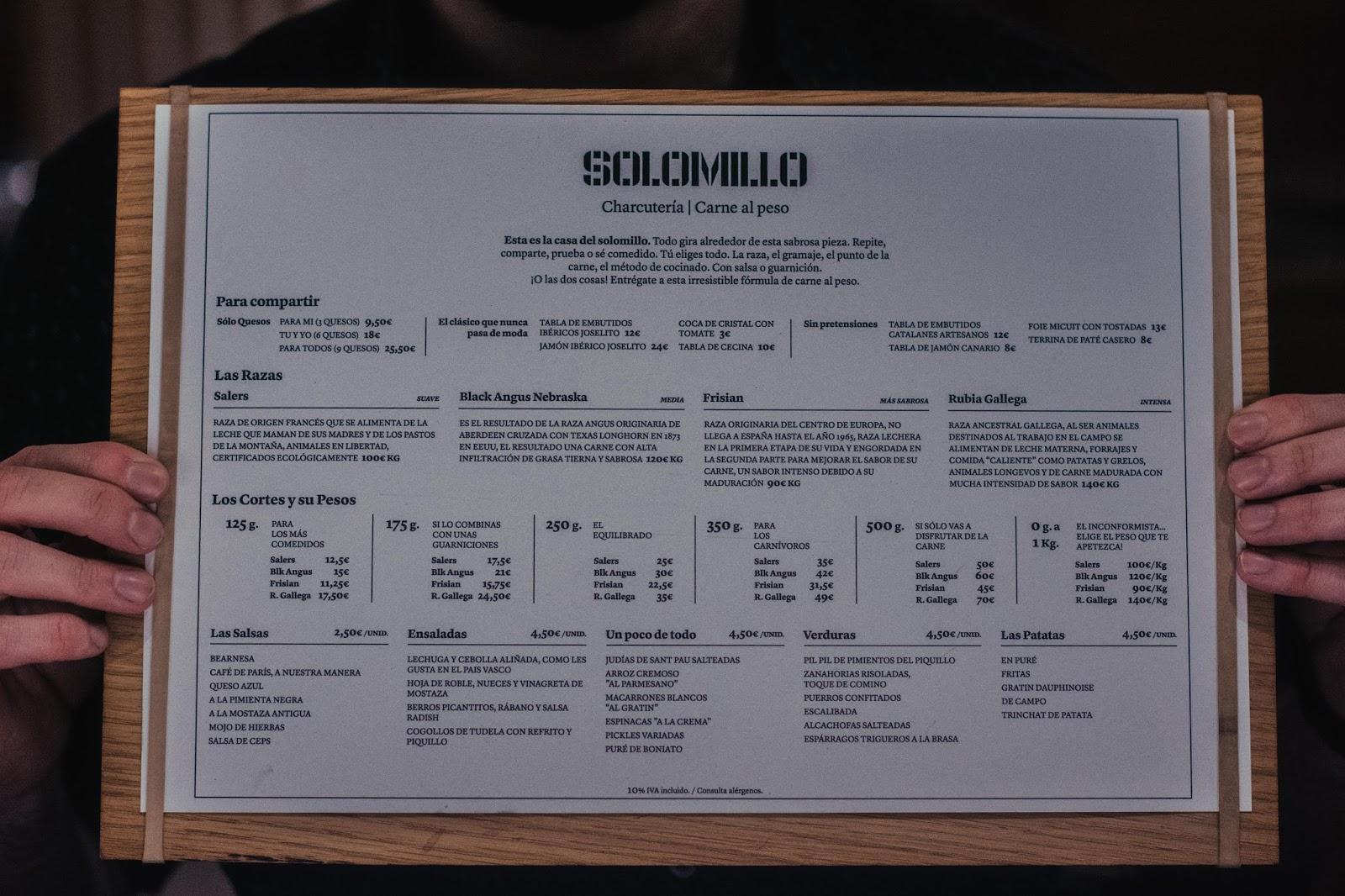 Solomillo Restaurante Barcelona