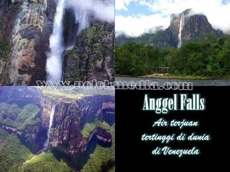 gambar air terjun tertinggi di dunia_Angel Falls-Venezuela