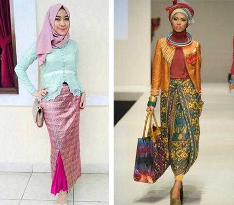 Model Kebaya Songket 2019 Gamis Brokat