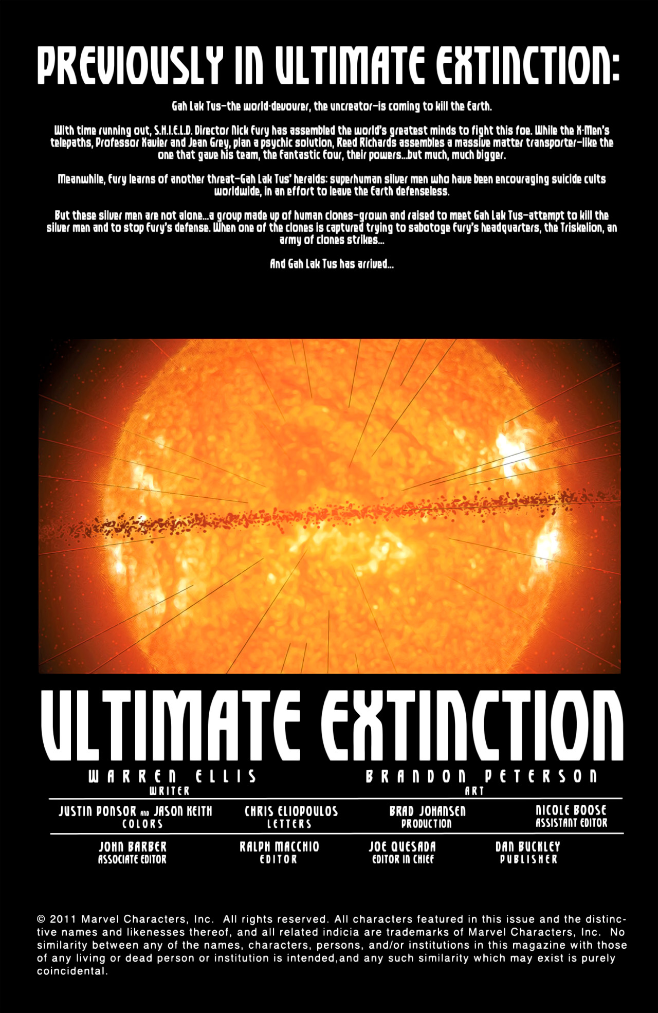 Read online Ultimate Extinction comic -  Issue #5 - 2