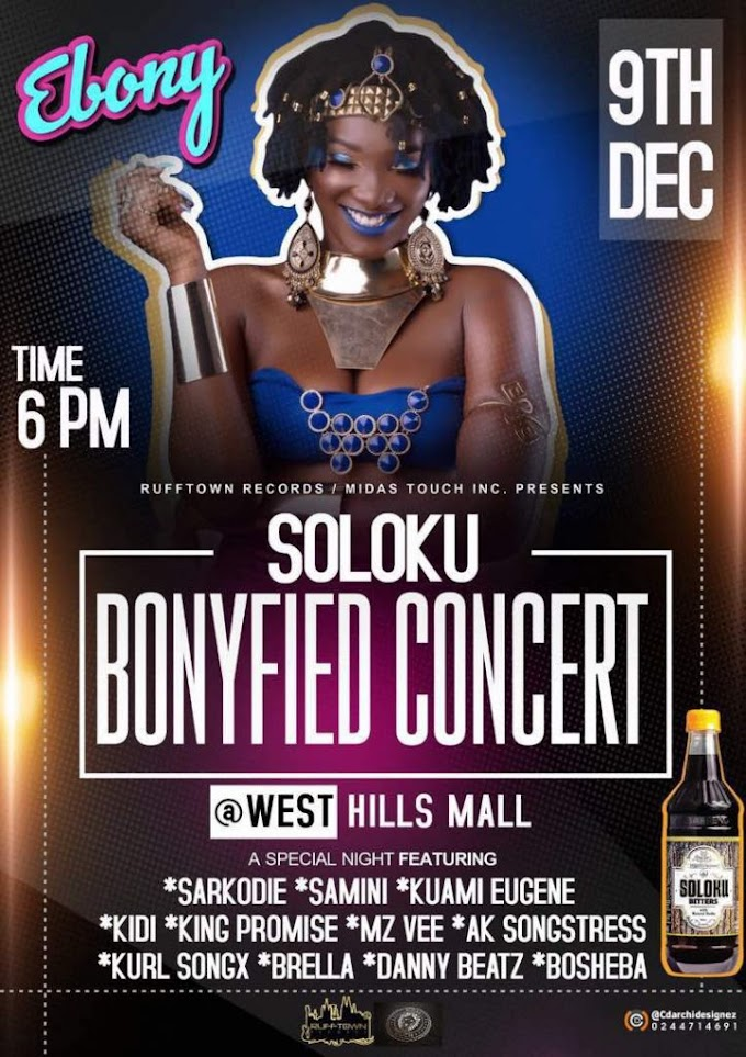 Ebony to stage 'Bonyfied Concert', Dec 9