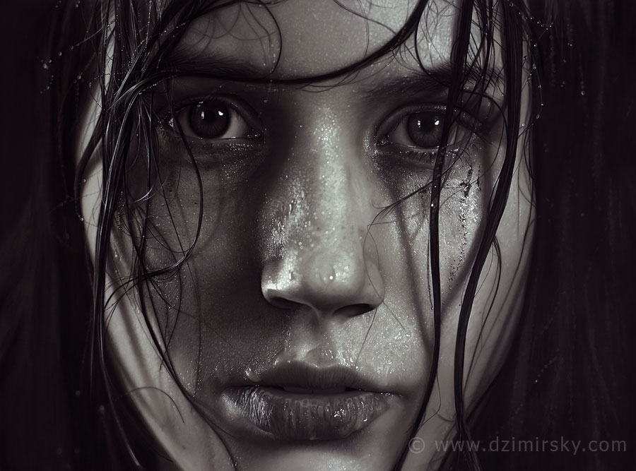 08-Insomnia-Dirk-Dzimirsky-Realistic-Drawings-and Paintings-www-designstack-co