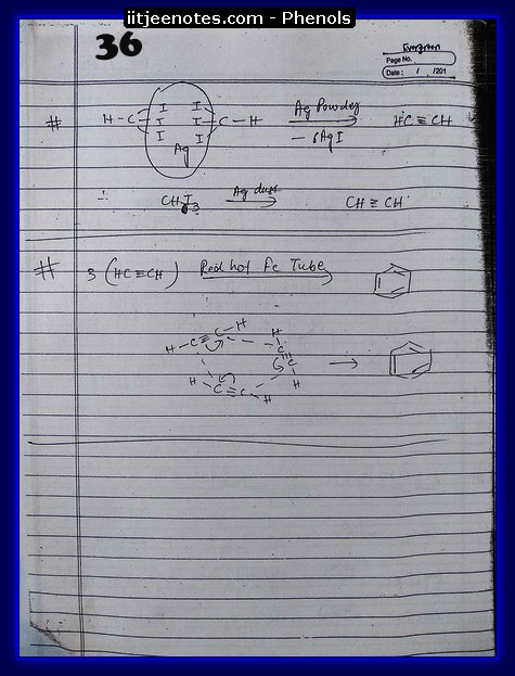 Phenol Notes IITJEE 6