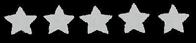 5段階評価の星印マーク(0)