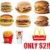 McDonald's Friday $2 Meal Hack!! Get a Premium Burger/Sandwich, Medium Fries and a Large Drink For only $2
