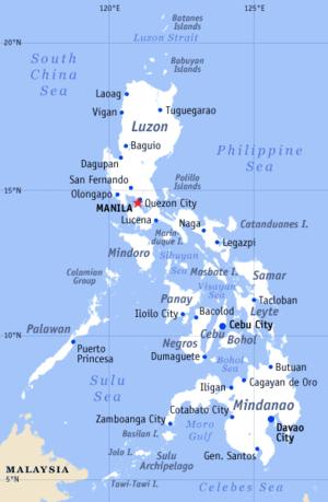 PETA FILIPHINA