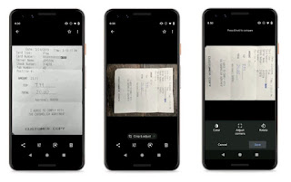 تعمل Google على تسهيل التقاط صور واضحة للإيصالات وغيرها من المستندات