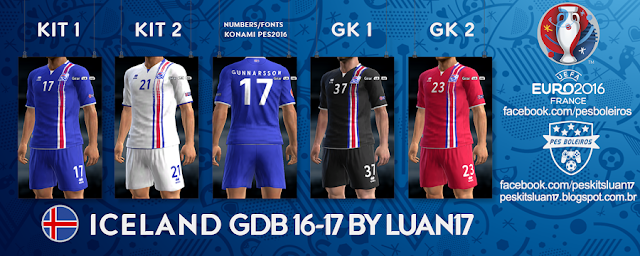 PES 2013 Iceland Kit Euro 2016