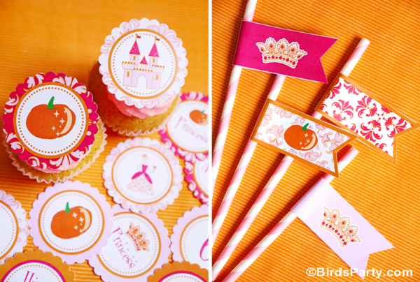 Our New Princess Pumpkin Party Printables - BirdsParty.com