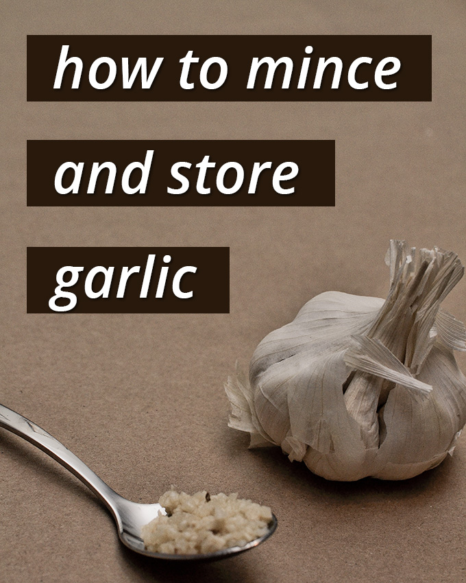 how to mince a garlic
