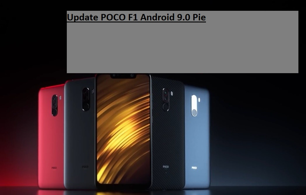 Update POCO F1 Android 9.0 Pie