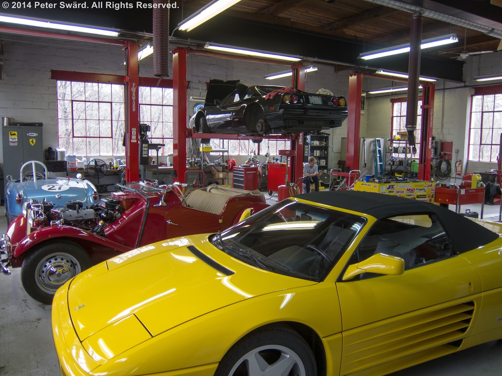This Gave Me An Excuse To Visit My Former Mechanics At The Boston Sportscar Just Up Street They Are Still Doing Ferraris And You Can See Michael