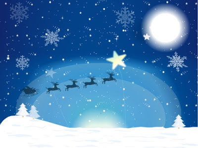 christmas-riding_in_sky_night_blue_bg_wallpaper