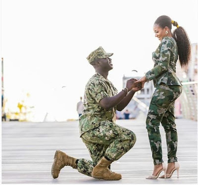 Military Officer Proposes To His Beautiful Fiance In Style (Photos)