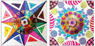 art student created mandala
