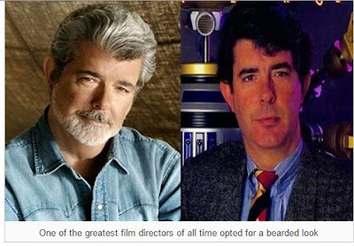 Look at this guy; George Lucas. Instead of shaving,