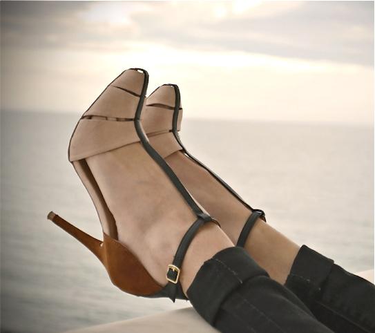 Black Kitten Heel Shoes Uk