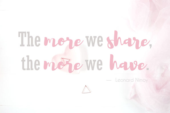 the-more-share-more-we-have