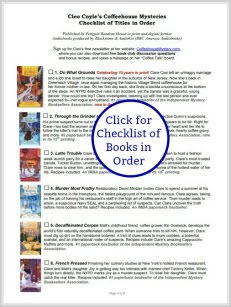 Free Title Checklist from Cleo Coyle!