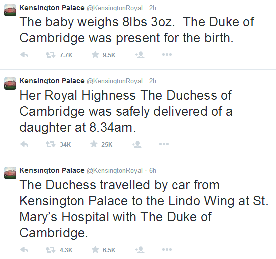 Kate Middleton gives birth to royal baby girl