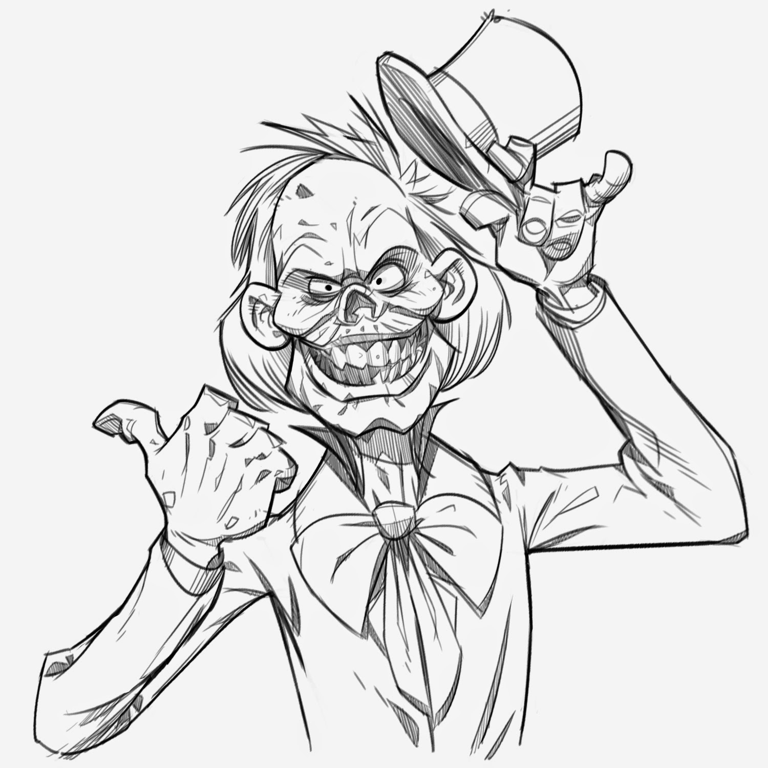 P.Cohen Sketch Blog: Hitchhiking Ghost part 1