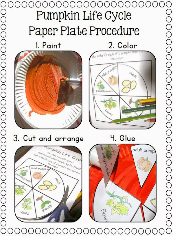 Pumpkin Life Cycle on a Paper Plate, oh my! - Clever Classroom Blog