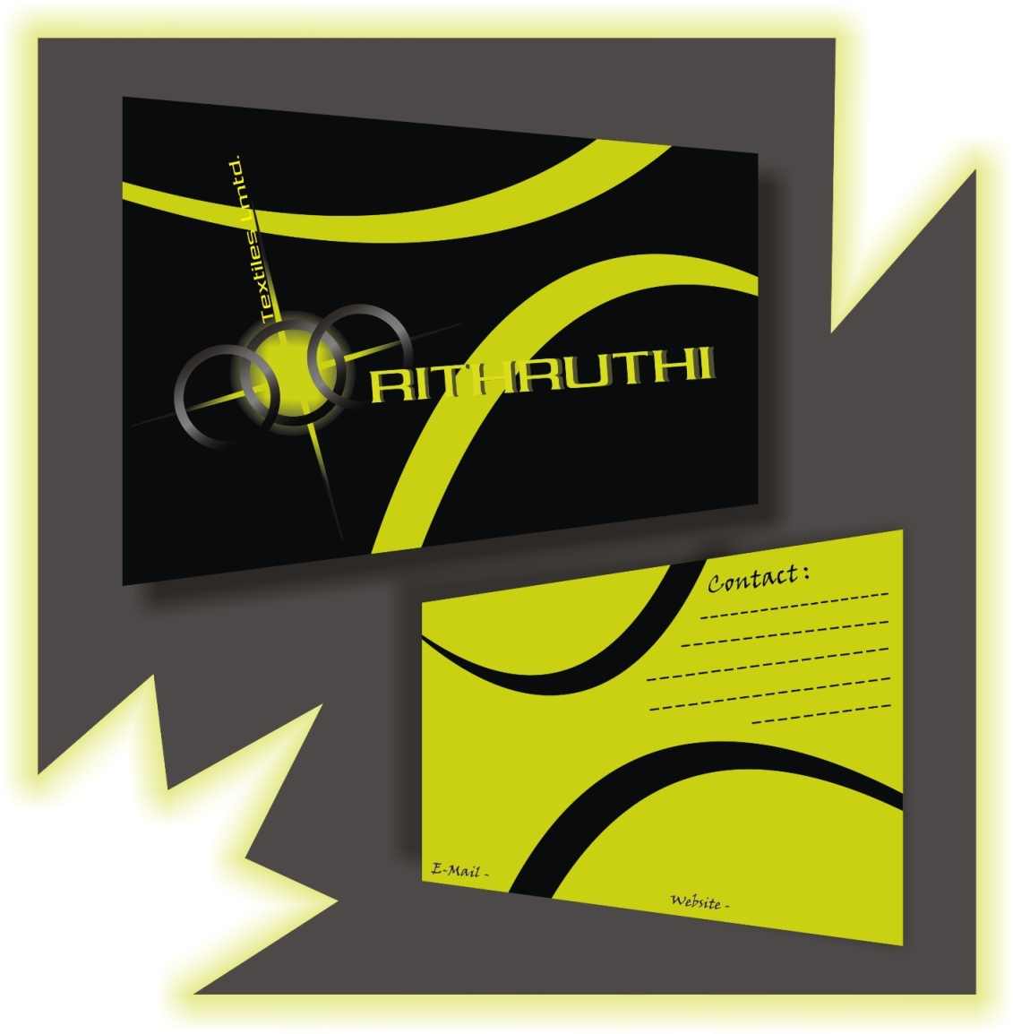 V card background images - More Bright Tiwi Green Color Card With Vector Flow Design Background Black Color For Front Tiwi Green For Back Side