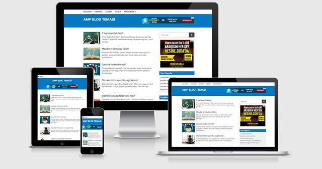 Blogger SEO uyumlu Ücretsiz AMP Teması