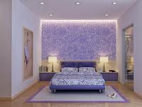 Wandgestaltung Schlafzimmer Lila