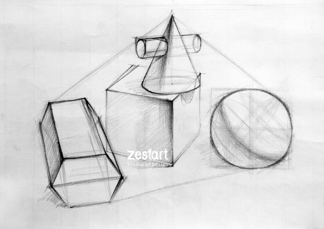 Hình khối căn bản sketch tay, kỹ năng sketch, cách học