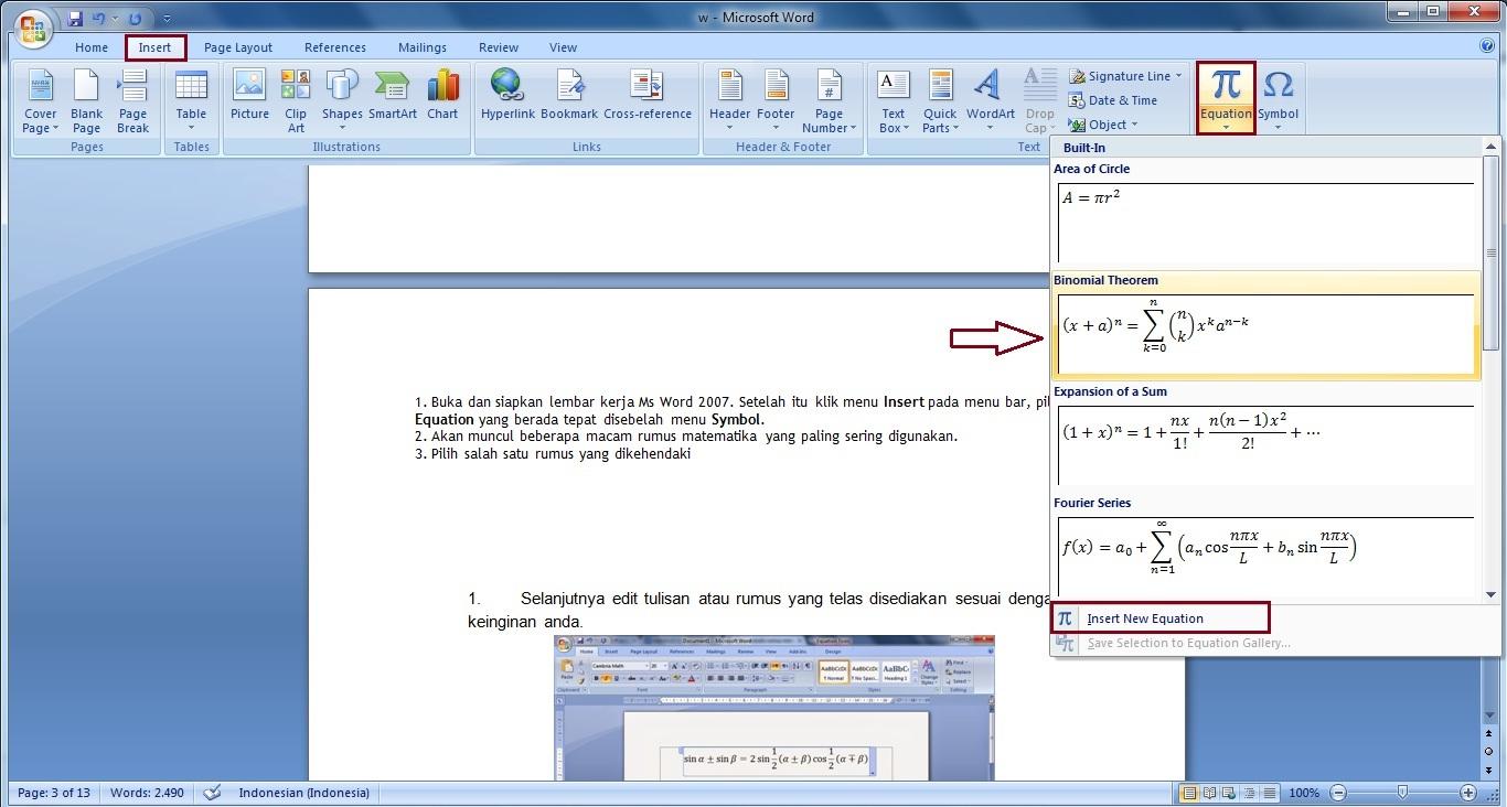 panduan belajar ms office blogger