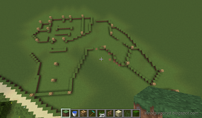 minecraft hobbiton build green dragon