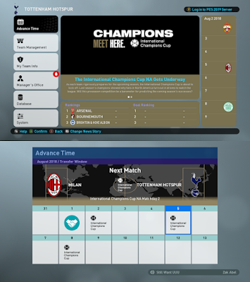 PES 2019 ML Graphics International Champions Cup by Spursfan18