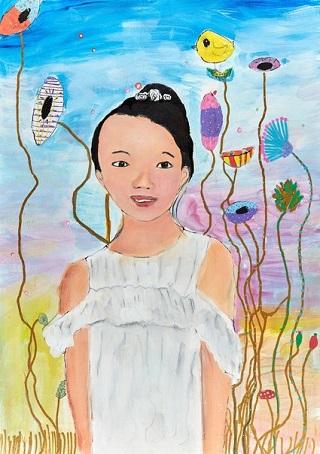 "Honourable Mention Young Archie 2018 - ""Self-portrait"" by Clarice Chiew | creative emotional drawings, cool stuff, pictures | obras de arte contemporaneo, cuadros, imagenes tristes bonitas chidas bellas"