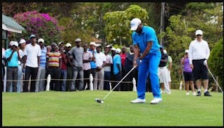 Jay Jay Okocha Hints At New Profession, Plays Pro Golf At Barclays Open in Kenya (See Photos)