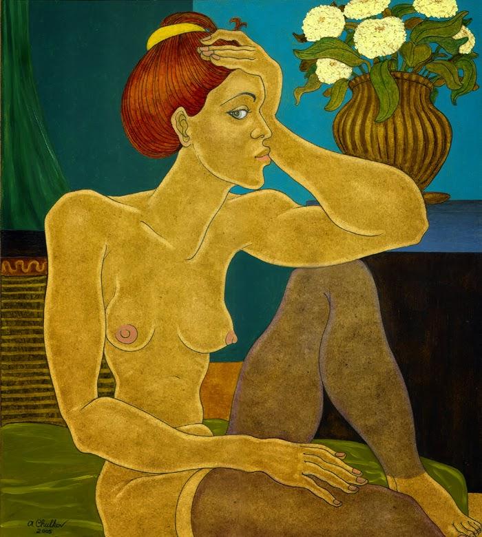 "Александр Чулков. ""Женщина в зелёной комнате"". / Alexandr Chulkov. ""The woman in the green room""."